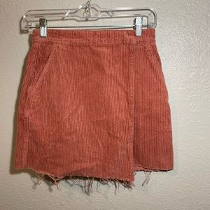 BDG corduroy pink mini skirt